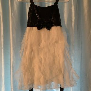Girls Justice Dress. Black and white. Size 10.